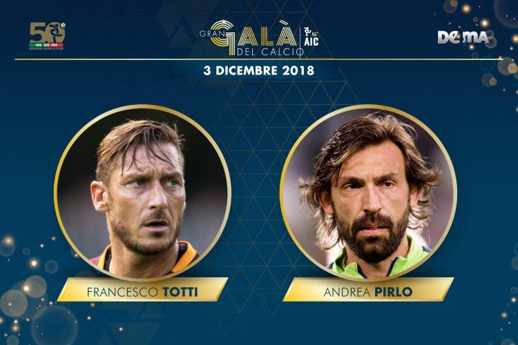 GGDC 2018: Lunedì Totti E Pirlo Riceveranno Il Premio Alla Carriera!
